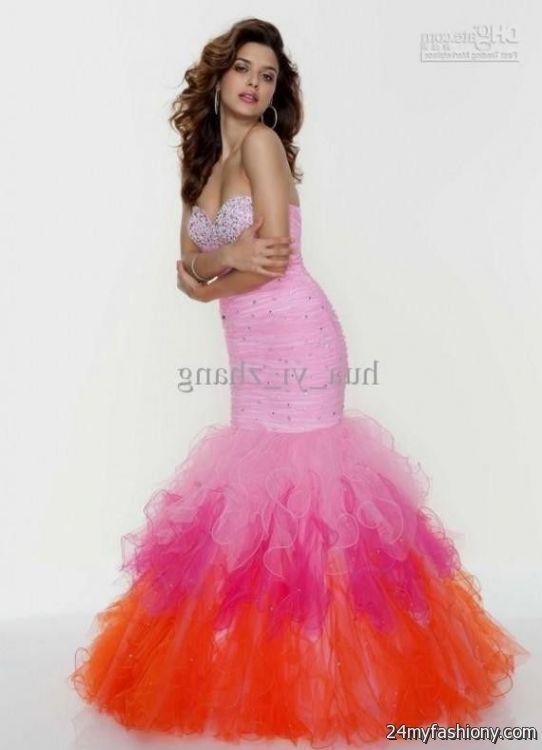 orange mermaid prom dresses 20162017 b2b fashion