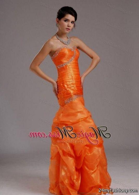 orange mermaid style prom dresses 20162017 b2b fashion