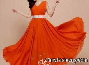 efd6fa98953 You can share these orange sundress wedding on Facebook