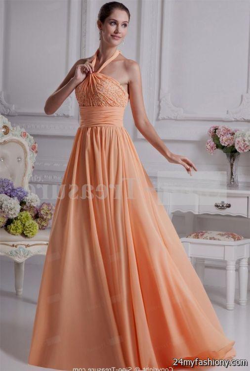 pale orange bridesmaid dresses looks b2b fashion