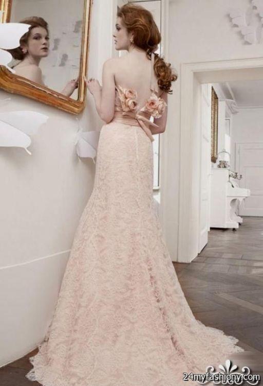 Pale pink lace wedding dress 2016 2017 b2b fashion pale pink lace wedding dress 2016 2017 junglespirit Gallery