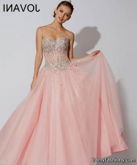 8c79fd40d3b You will be the queen of the ball in one of these elegant and poised prom  dresses. You can share these pale pink quinceanera dresses on Facebook ...