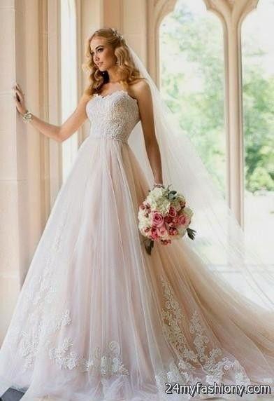 pale pink wedding dress 2016-2017 | B2B Fashion
