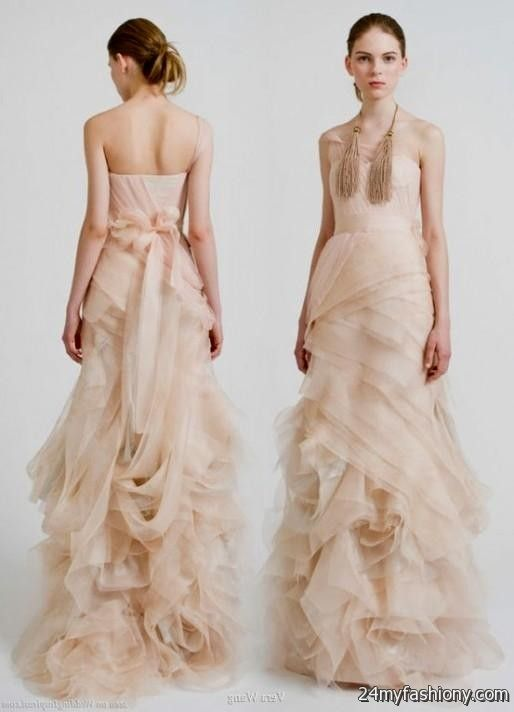 Pale pink wedding dress vera wang 2016 2017 b2b fashion for Affordable vera wang wedding dresses