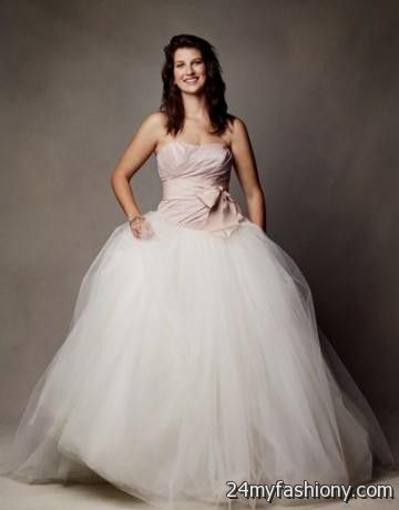 Pale pink wedding dress vera