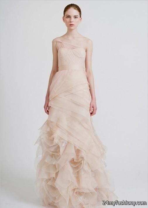 pale pink wedding dress vera wang 2016-2017 | B2B Fashion