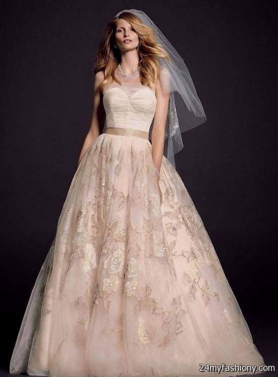 pale pink wedding dress vera wang 2016-2017 | B2B Fashion