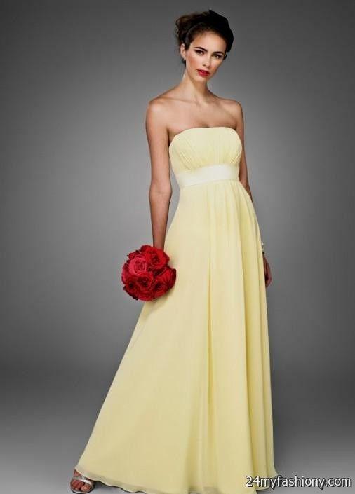 pale yellow bridesmaid dresses 2016-2017 | B2B Fashion