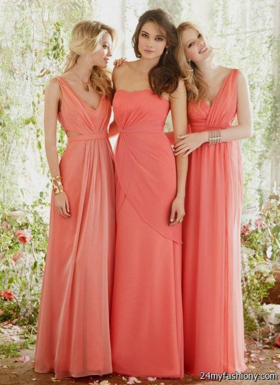 pastel coral bridesmaid dresses 2016-2017 » B2B Fashion