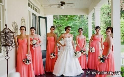 You Can Share These Pastel Coral Bridesmaid Dresses On Facebook Stumble Upon My Space Linked In Google Plus Twitter And All Social Networking Sites