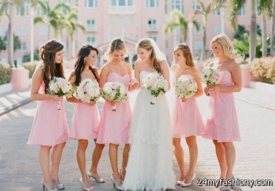 Pastel Pink Bridesmaid Dresses