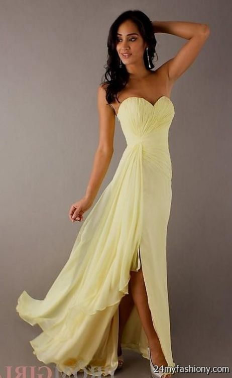 You Can Share These Pastel Yellow Bridesmaid Dresses On Facebook Stumble Upon My Space Linked In Google Plus Twitter And All Social Networking Sites