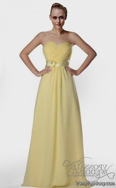Yellow Bridesmaid Dresses Uk 2017 79