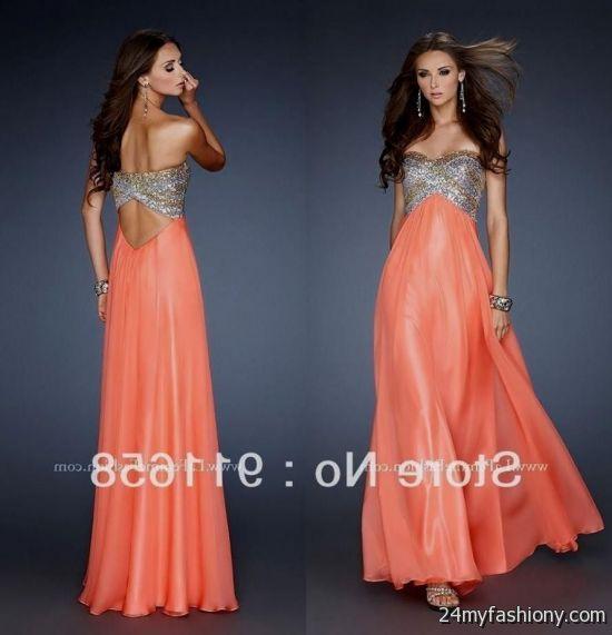 peach and gold prom dress looks  45b0c2f8b