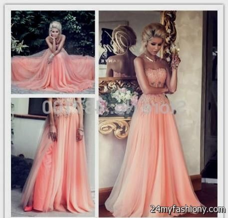 peach plus size prom dresses looks | B2B Fashion