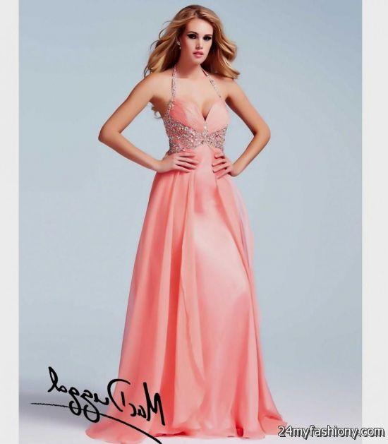 Peach Prom Dresses 2014