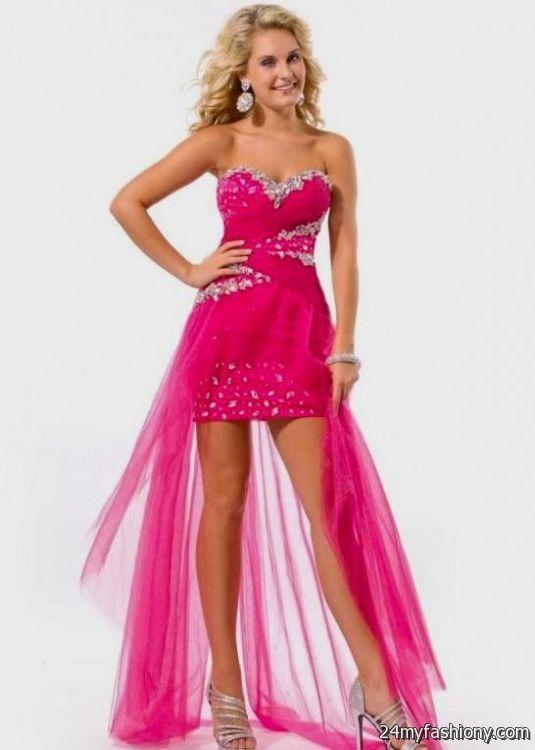 peach prom dress high low looks b2b fashion