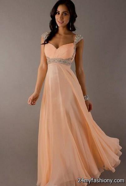 peach prom dresses looks | B2B Fashion