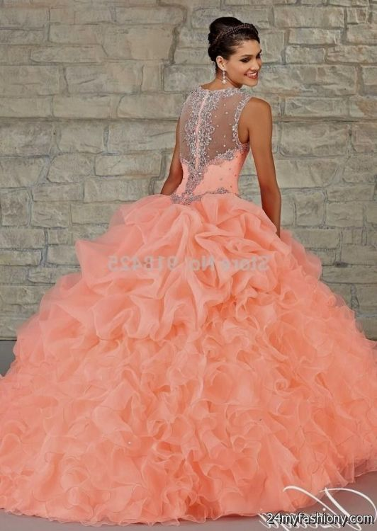 peach quinceanera dresses 2016-2017