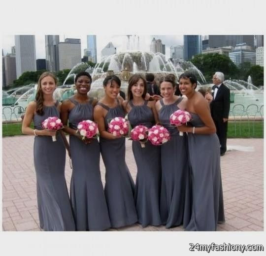 Pewter bridesmaid dresses davids bridal 2016 2017 b2b for David bridal wedding dresses 2017