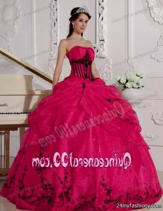 pink and black ball gown 2016-2017 » B2B Fashion