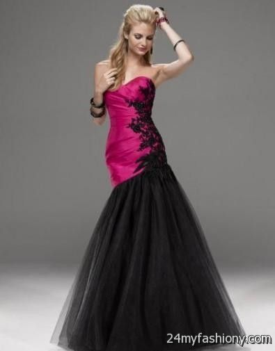 Pink And Black Prom Dresses 2017 - Boutique Prom Dresses