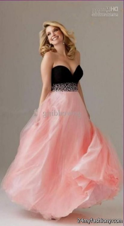 Pink And Black Prom Dresses Plus Size 2016 2017 B2b Fashion