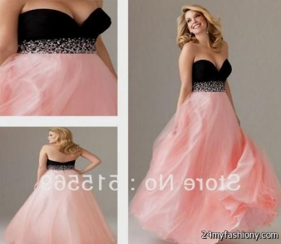 pink and black prom dresses plus size looks | B2B Fashion