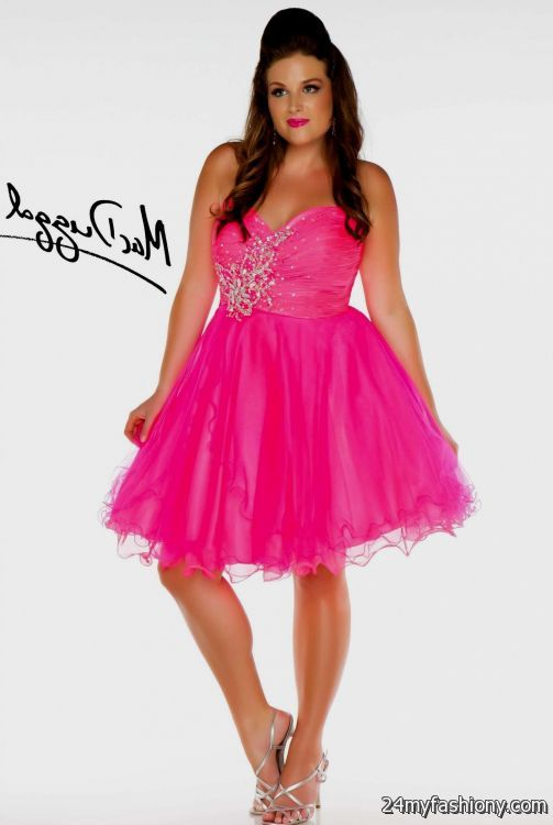Plus Size Dresses Pink Black - Homecoming Prom Dresses