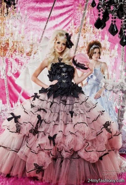 Pink And Black Wedding Dress 2016 2017