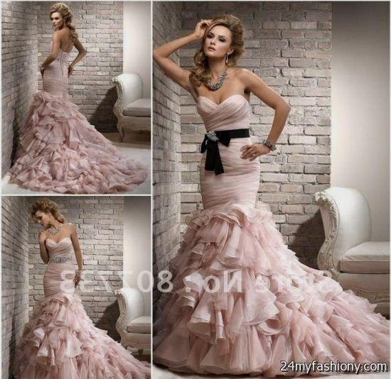 pink and black wedding dress 2016-2017 | B2B Fashion