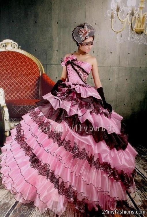 pink and black wedding dresses 2016-2017 | B2B Fashion