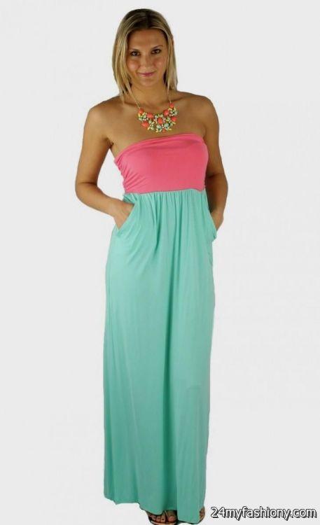 Pink And Blue Maxi Dress Photo Album - Reikian