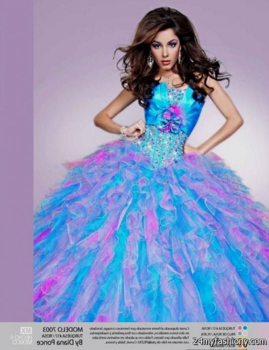 pink and blue quinceanera dresses 2016-2017 » B2B Fashion