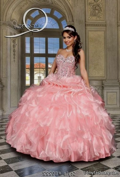 Pink And Gold Quinceanera Dresses 2016 2017 B2b Fashion