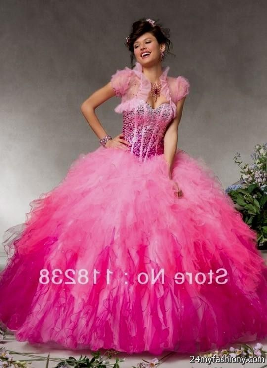 Quinceanera Dresses Pink And White Puffy pink and white ...