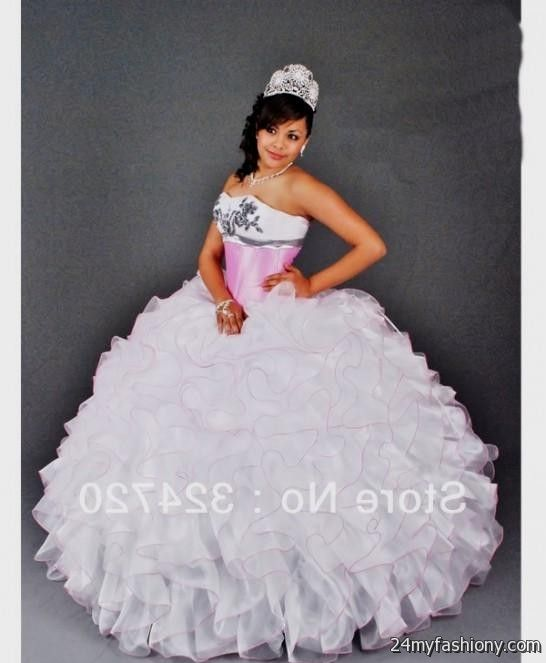 pink and white puffy quinceanera dresses 2016-2017 » B2B Fashion