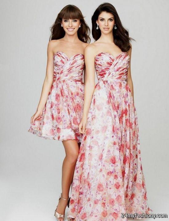 Pink Floral Bridesmaid Dress