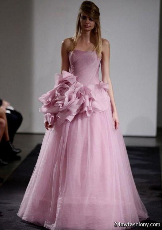 Pink wedding dress vera wang 2016 2017 b2b fashion for Pink vera wang wedding dresses