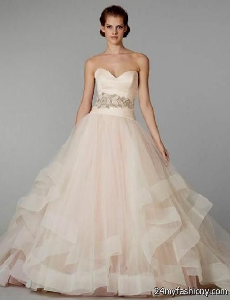 pink wedding dress vera wang 2016-2017 | B2B Fashion
