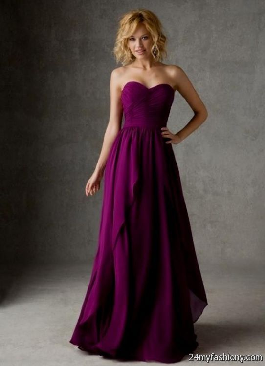 plum chiffon bridesmaid dresses 2016-2017 | B2B Fashion