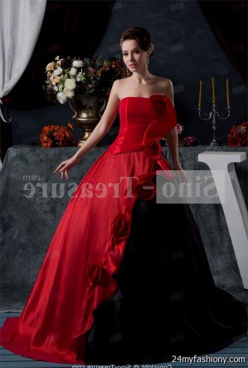 Red And Black Plus Size Wedding Dresses Wedding Dresses