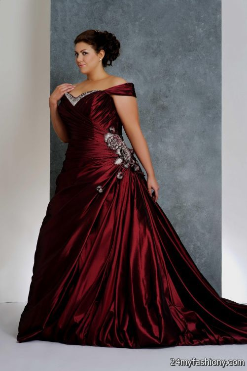 Plus Size Black And Red Wedding Dresses 2016 2017 B2b