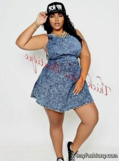 Plus Size Denim Dresses 2016 2017 B2b Fashion