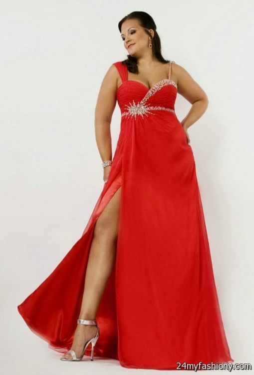 Plus Size Prom Dresses Red 2016 2017 B2b Fashion
