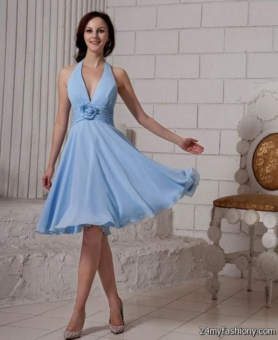 Powder Blue Bridesmaid Dresses - Wedding Dress Designers