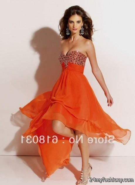 pretty orange prom dresses 20162017 b2b fashion