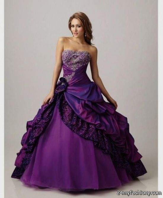 Purple And Black Ball Gown Looks B2b Fashion