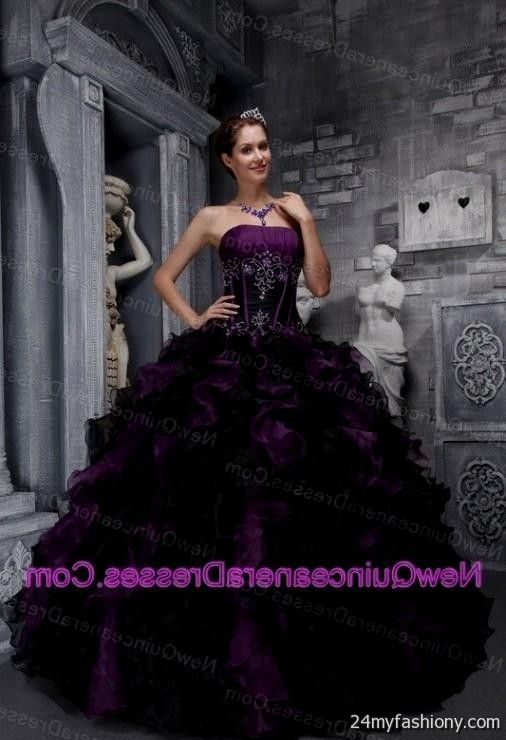 purple and black ball gown 2016-2017 » B2B Fashion