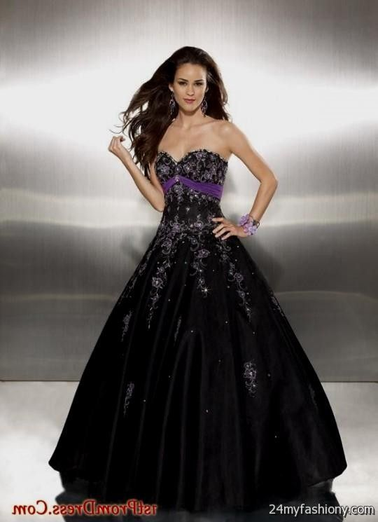 purple and black ball gown 2016-2017 » B2B Fashion